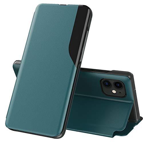 Funda para teléfono móvil con cierre magnético a prueba de golpes, con tapa horizontal y soporte para iPhone 12 mini en el lateral hangma (color rojo)