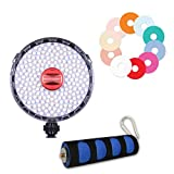 Rotolight NEO 2 LED Camera Light Bundle including Hand Grip and Filters, Continuous Adjustable Color with built in High-Speed Sync Flash