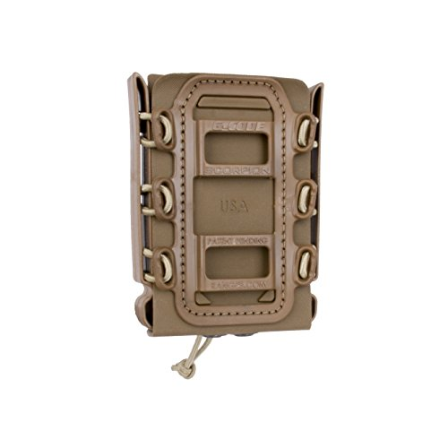 G-CODE Rifle Soft Shell Scorpion Mag Carrier (TAN) with Molle Mount Attachment 100% Made in USA