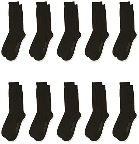 JACK und JONES Herren Jacjens 10 Pack Noos Socken, Schwarz (Black Black), Einheitsgr e EU