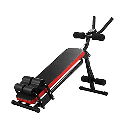 GDY Core & Abdominal Trainer, AB Workout Machine, Waist Trainer - Whole Body Workout Equipment, 3 Levels Resistance (Red)