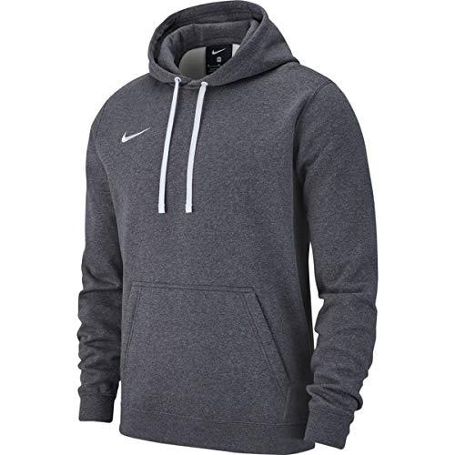 Nike Herren M Hoodie PO FLC TM CLUB19 Sweatshirt, Charcoal Heathr/Anthracite/White/(White), L