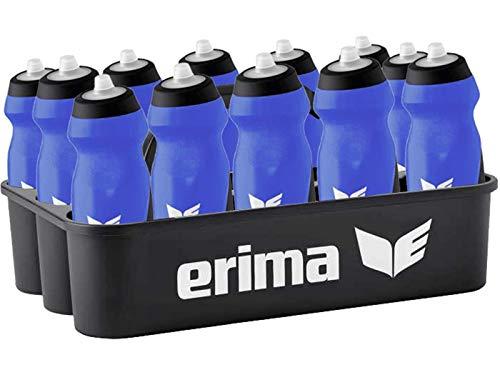 Sport-Kanze Erima Flaschenträger/Flaschenhalter inkl. 12 Trinkflaschen blau