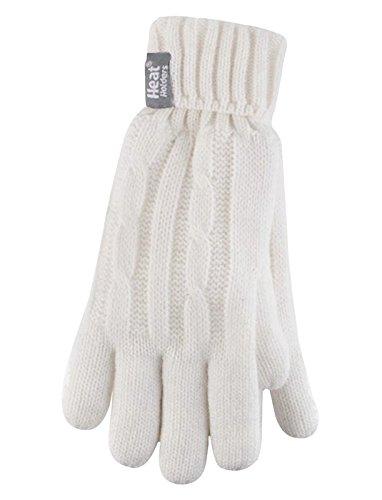 HEAT HOLDERS - Damen Thermisch Winter Handschuhe in 7 Farben (S/M, Creme)