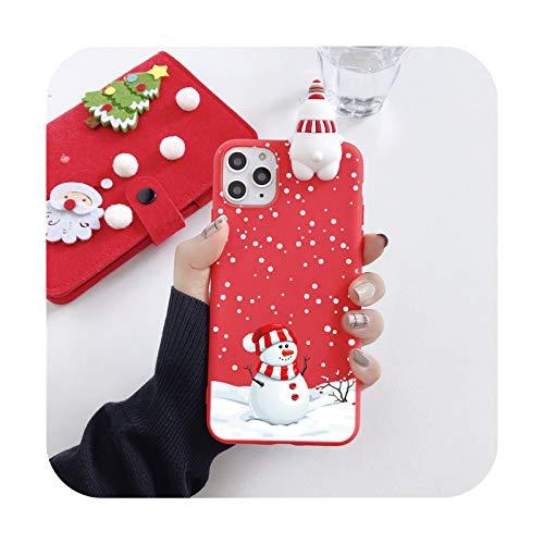 Lindo 3D muñeca dibujos animados Navidad Santa Reno árbol suave teléfono caso para iphone 11 Pro Max 12 X XS XR 7 8 Plus SE 2020 cubierta regalo-E-para iphone 7