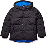 Amazon Essentials Kids Boys Heavy-Weight Hooded Puffer Jackets Coats, Black, Large