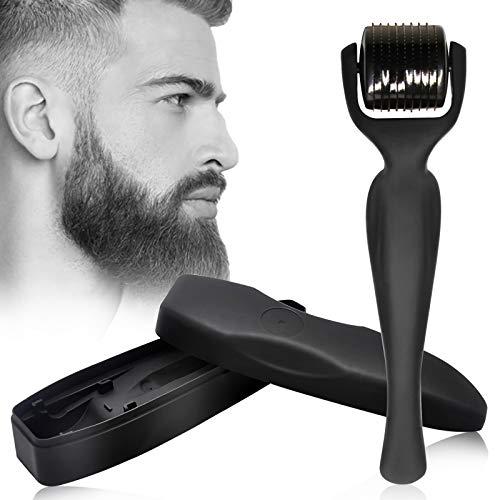 Microneedling Roller, Microneedle Beard, Needeling Derma Roller, 0,5 mm Mikronadelwalze aus Titanlegierung für Bartwachstum, Die Ihnen einen sexy Bart verleiht