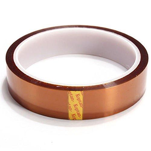 JKKJ 30,5 m hohe Temperaturbänder – Polyimid-Folien-Klebeband, mehrfache Breite 20 mm, hitzebeständig, gut geeignet zum Abdecken, Löten, Pulverbeschichtung und Verpacken