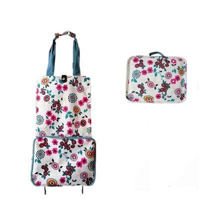 LLDKA Combo opvouwbare handtas tas kar met een draagbare opvouwbare winkelwagen tas kleine pull bagageruimte