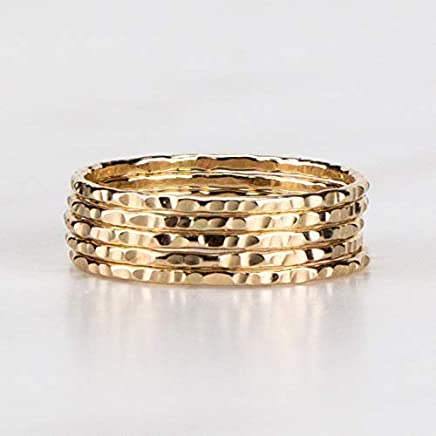 34c55dade4c82 Amazon.com: Gold-filled - Stacking / Rings: Handmade Products