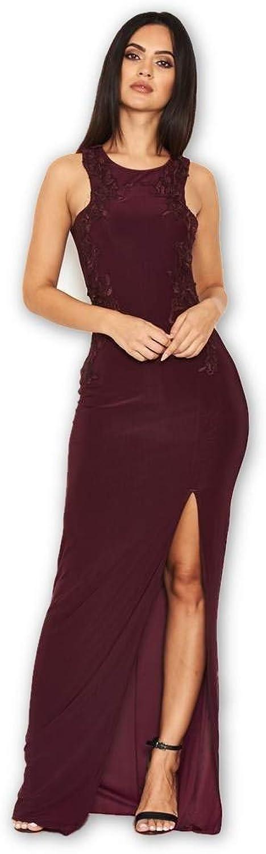 AxParis AX Paris Women's Lace Detailing Maxi Dress