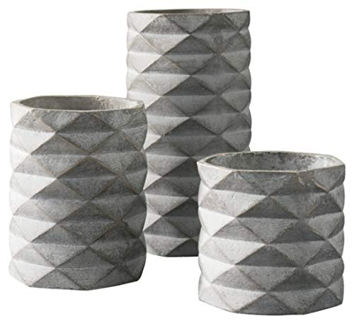 Ashley Furniture Signature Design - Charlot Vase - Set of 3 - Contemporary - Gray