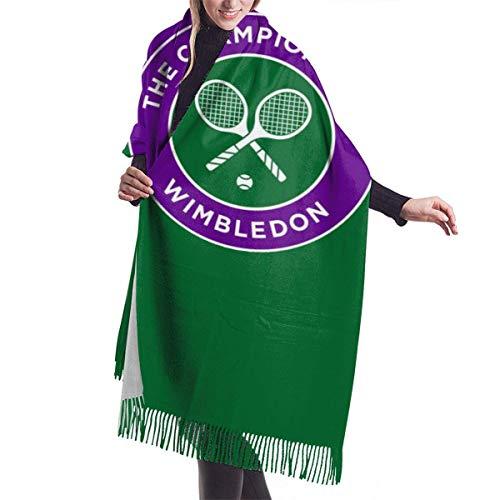 LisaArticles Wimbledon Tennisturnier Herren Damen Schal, Stylish Warm Adult Schals für GYM Mountain Running,68x196cm