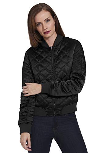Weatherproof Womens Bomber Jacket Light Quilted Cropped Insulated Jacket (Black, X-Small)