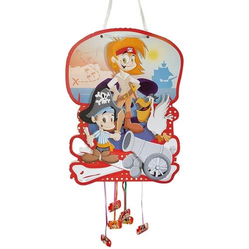 Piñata De Cumpleaños Grande De Piratas Para Rellenar. Juguete De Aniversario, Fiesta Infantil Y Comunión Para Niños Y Niñas