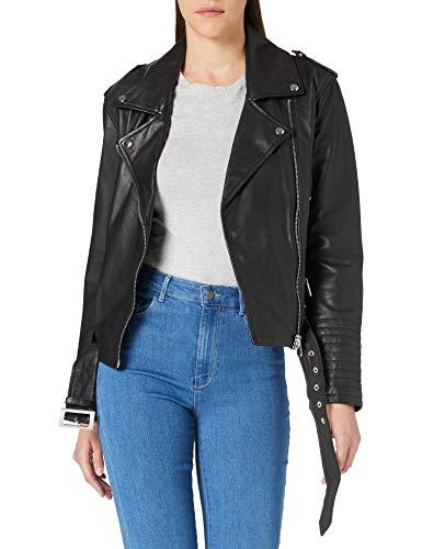 Armani Exchange Biker Jacket Chaqueta, Negro, M para Mujer