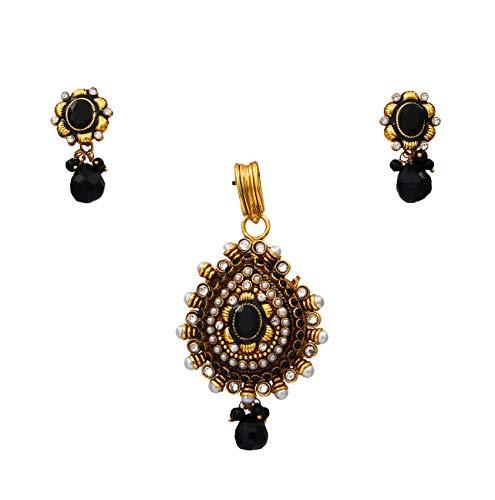GemsOnClick cobre chapado en oro Multi Black negro-ónice