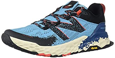 New Balance Women's Fresh Foam Hierro V5 Trail Running Shoe, Wax Blue/Toro Red, 5 M US