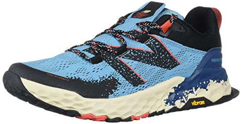 New Balance Women's Fresh Foam Hierro V5 Trail Running Shoe, Wax Blue/Toro Red, 7.5 M US