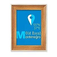 モンテネグロ地理座標トラブ デスクトップ木製フォトフレームディスプレイアート絵画セット