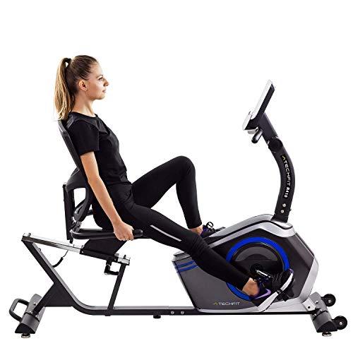 TechFit R410 Bicicleta de Ejercicio reclinable, Ideal para recuperación en casa, Asiento Ajustable,...