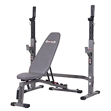Body Champ Two Piece Set Olympic Weight Bench with Squat Rack BCB3835/PRO3900