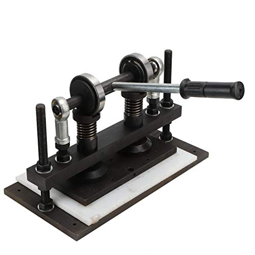 Jeanoko 26 x 13cm PVC/EVA Doble Eje de guía Manual cortadora de Cuero 1.5t Negro para Industria