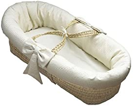Baby Doll Bedding Pique Moses Basket, Ecru