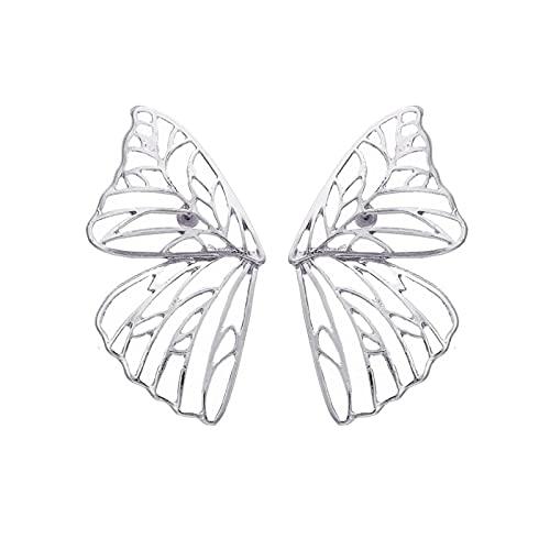 Pendientes de diamantes de imitación vintage Pendientes de botón de mariposa doble lindo para mujer Pendientes de botón encantadores Pendientes de aniversario de boda Accesorios de joyería LNI1008-2
