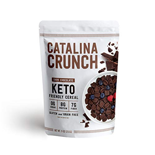 Catalina Crunch Dark Chocolate Cereal: Keto Friendly, Low Carb, Zero Sugar, Plant Protein, High Fiber, Gluten & Grain Free