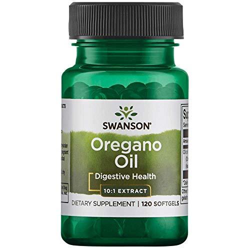Swanson Oregano Öl 10:1 Extrakt | 120 Softgels je Dose | 150 mg hochdosiert | Gesundheit antioxidativ Bio pflanzlich Immunsystem Olivenöl herbal supplement | Nahrungsergänzungsmittel