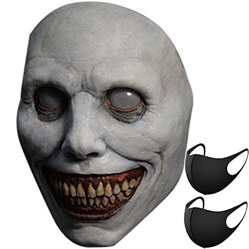 Stanchev Máscara de Halloween de demonios sonrientes para cosplay, máscara de mal...