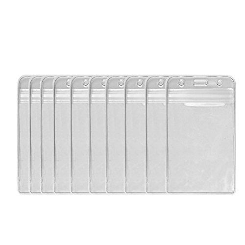 UEETEK 100 piezas impermeable plástico Vertical nombre etiqueta ID Badge tarjeteros