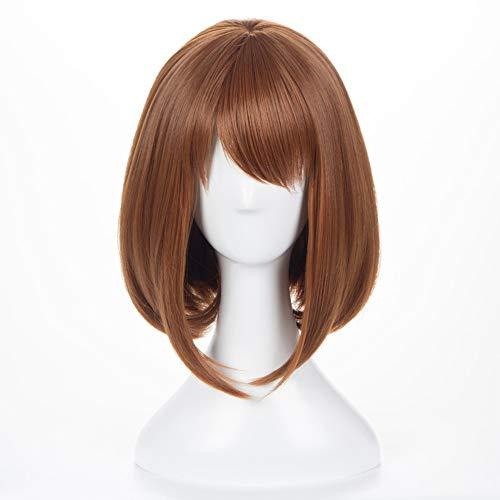 OSIAS Ochaco Uraraka Wig,Long Brown Cosplay Wig With Wig Caps