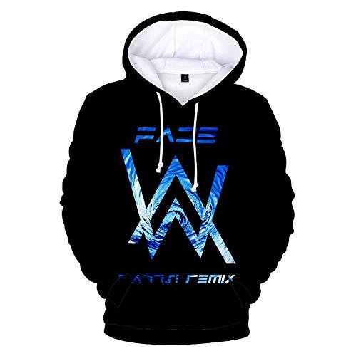 QCYISI Männer Frauen Kapuzenpulli, Langarm-3D Printed Sweatshirt XS-XXXL, Unisex Paar Wear, Lässige Kordelzug Hoodie,5,XXL