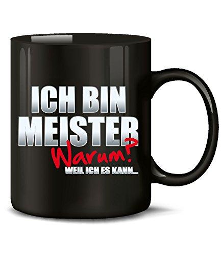 Golebros Ich Bin Meister Tasse Becher Kaffee Arbeit Beruf Handwerker Prüfung Handwerks Titel Geschenk Artikel Ausbildung Brief