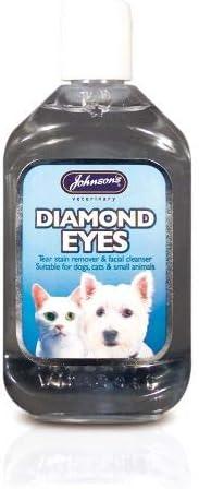 Johnsons Diamond Eyes Limpiador de manchas de lágrimas para mascota, perro, gato