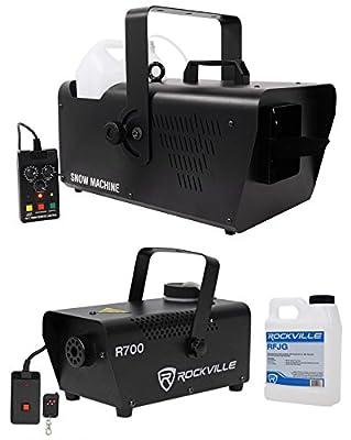 Chauvet DJ SM 250 Portable DMX Snow Machine w/Remote+Free Fog Machine w/Remote from CHAUVET