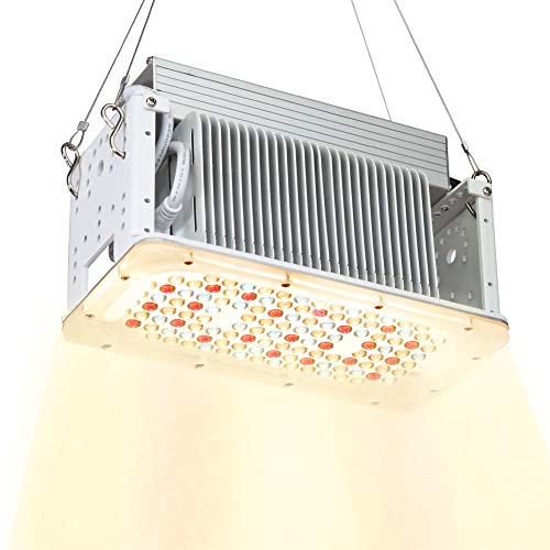Aceple Full Spectrum Sunlike White LED Grow Light 600W Equal, Waterproof Plant Growing Lamp, 2x2ft Coverage Plant Light for Gardening, Grow Tent, Houseplant, Seedling Veg Flowering