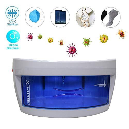 Esterilizador UV, Mini Capa portátil de Baja Temperatura Individual Gabinete de desinfección Ultravioleta de ozono, para Herramientas salón Pinceles Maquillaje Joyas Máscaras Ropa Interior etc,White