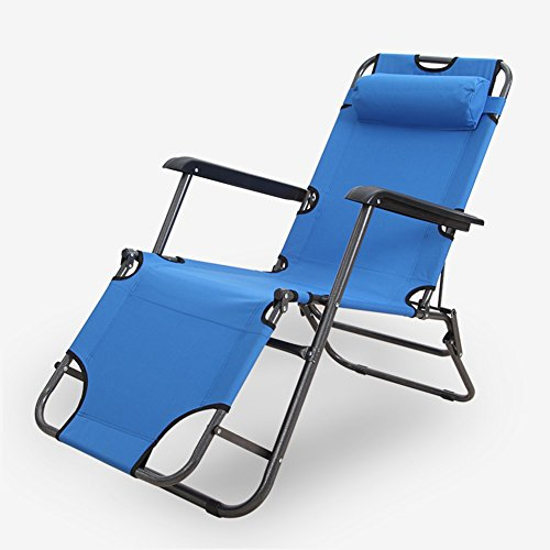 QIDI Chaise Longue Pliante en Métal 60 * 78 * 153cm (Couleur : Style 1)