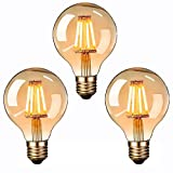 Lampadina Vintage Edison a LED , Massway 4W E27 G80 Edison...