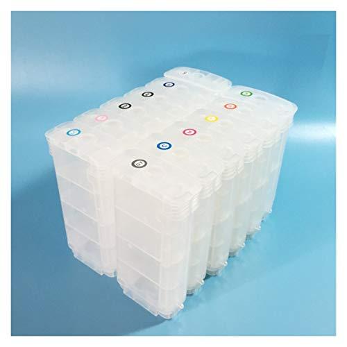 WSCHENG 12 Colores para HP70 HP 70 Cartucho de Tinta Recargable para HP DeskJet Z3200 Cartucho de Impresora con Chips de Arco permanentes