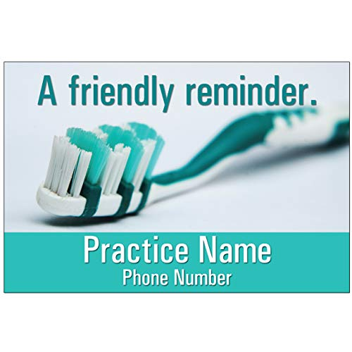 Appointment Reminder Postcards for Dentists. Customize Card Front and Back with Practice Info. 4