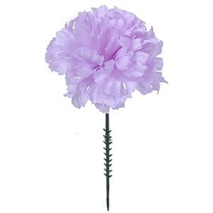 Larksilk Lavender Silk Carnation Picks, Artificial Flowers for Weddings, Decorations, DIY Decor, 1000 Count Bulk, 3.5″ Carnation Heads with 5″ Stems
