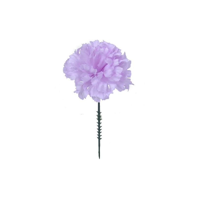 "silk flower arrangements larksilk lavender silk carnation picks, artificial flowers for weddings, decorations, diy decor, 1000 count bulk, 3.5"" carnation heads with 5"" stems"