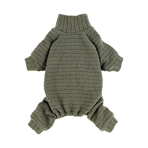 Fitwarm Turtleneck Knitted Dog Sweater Puppy Pajamas Thermal Doggie Winter Clothes Knitwear Pet Coats Cat Apparel Green X-Small