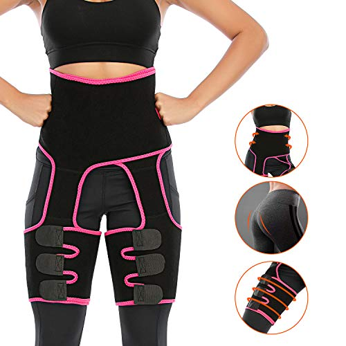 Best butt lifter - Enjoyee Waist and Thigh Trainer for Women, 3-in-1 Thigh and Waist Trainer with Adjustable High Waist Design, Butt Lifter Thigh Trimmer for Women Plus Size Weight Loss Everyday Wear Fitness Exercise