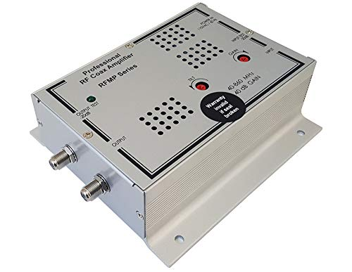 Premium Coax RF CATV Signal Distribution Amplifier with High 40dB Gain for Commercial Use