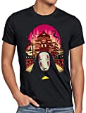 style3 Sin Rostro Camiseta para Hombre T-Shirt Viaje de Chihiro Anime Manga, Talla:5XL